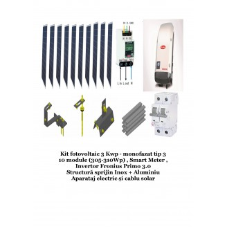 Kit fotovoltaic 3 Kwp monofazat tip 3