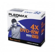 DVD-RW Samsung Pleomax 4.7GB, Jewel Case, 5 Bucati