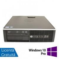 Calculator HP 8200 SFF, Intel Core i5-2400 3.10GHz, 4GB DDR3, 250GB SATA, DVD-ROM, Port Serial, Display Port + Windows 10 Pro
