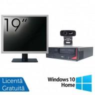 Pachet Calculator Fujitsu E410, Intel Core i3-3220 3.30GHz, 4GB DDR3, 500GB SATA + Monitor 19 Inch + Webcam + Tastatura si Mouse + Windows 10 Home