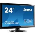 Monitor Iiyama E2482HSD, 24 Inch TN, 1920 x 1080, VGA, DVI, Fara picior