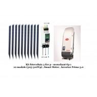 Kit fotovoltaic 3 Kwp monofazat  tip 1